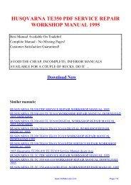 husqvarna te350 pdf service repair workshop ... - Repair manual