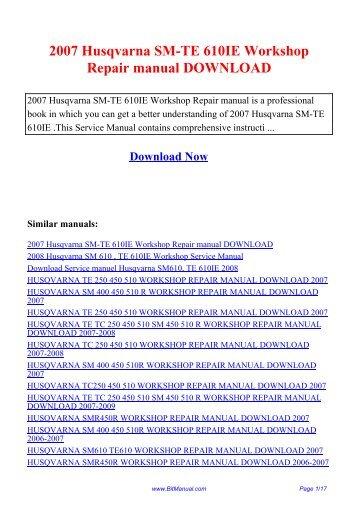 husqvarna tc 610 1995 factory service repair manual