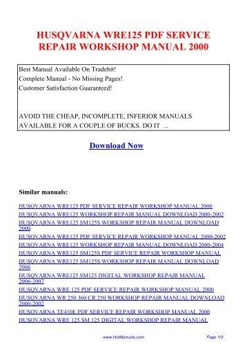 husqvarna te350 pdf servi rh yumpu com