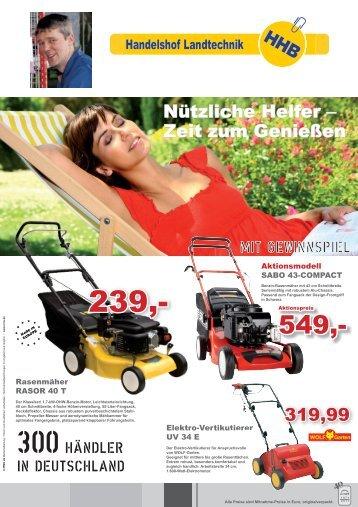 erste Preis - Rasenmäher, Rasentraktor, Akku-Mäher, Motor-Sägen ...