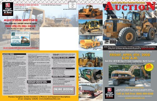 AUCTION AUCTION - Lloyd Meekins Auctions