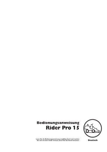 OM, Rider Pro 15, 2002-04 - Husqvarna
