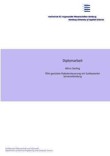 Diplomarbeit - Persönliche Webseiten der Informatik - HAW Hamburg
