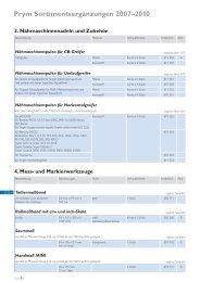 Prym Sortimentsergänzungen 2007–2010 4. Mess