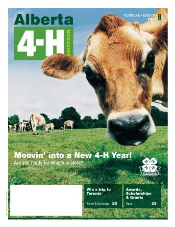 Alberta 4-H Magazine - Agriculture and Rural Development