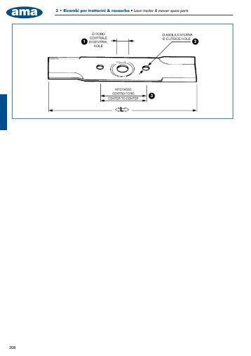 208 3 t Ricambi per trattorini & rasaerba t -BXO USBDUPS NPXFS ...