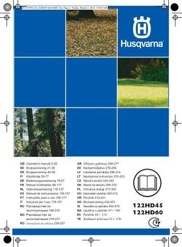 OM, 122HD45, 122HD60, 2012-04, EN, SE, DK, FI, DE, FR, NL, ES ...