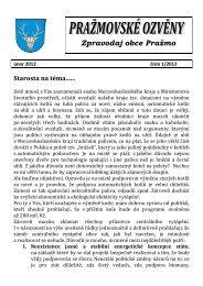 Zpravodaj obce Pražmo