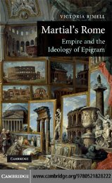 Martial's Rome: Empire and the Ideology of Epigram