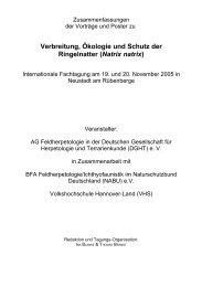 Verbreitung, Ökologie und Schutz der Ringelnatter (Natrix ... - Karch