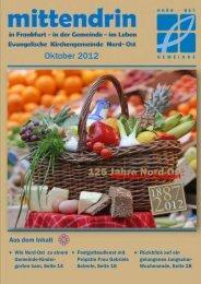 mittendrin Oktober 2012 - Evangelische Kirchengemeinde Nord-Ost