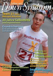 Nr. 59, September - Deutsches Down-Syndrom InfoCenter