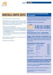 AbfAll-Info 2013 - in der Gemeinde Horn