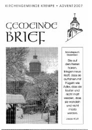 Gemeindebrief Advent 2007 - Ev.- Luth. Kirchengemeinde Krempe