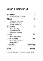 Berichte - Pfadi Säuliamt