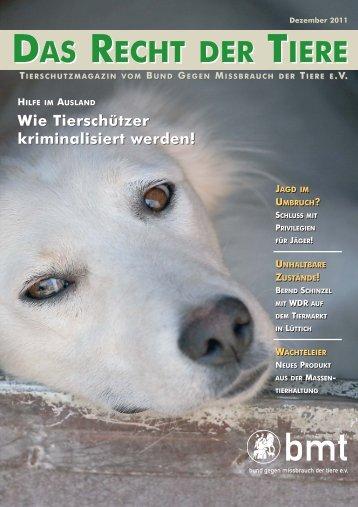 RDT 4/2011 - Bund gegen Missbrauch der Tiere ev