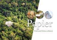 Papier - Wald und Klima schützen - Forum Umwelt und Entwicklung