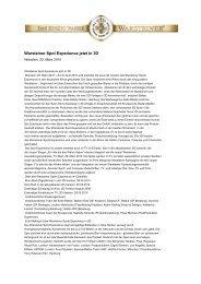 Warsteiner Spot Experience jetzt in 3D - Warsteiner Gruppe