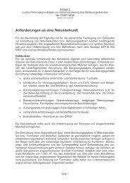 Anforderungen an eine Notunterkunft - AGBF NRW
