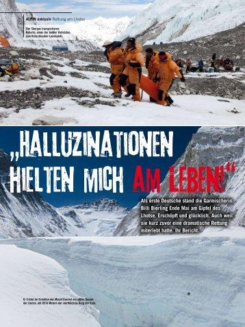Als erste Deutsche stand die Garmischerin Billi Bierling Ende Mai ...