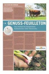 Genuss Feuilleton Sommer 2009 - Kulinarisches Erbe Österreich