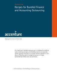 Recipes for Bundled Finance and Accounting Outsourcing