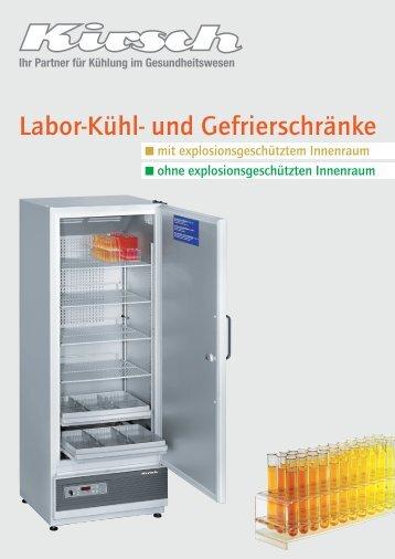 Labor-Kühl- und Gefrierschränke - VDW Coolsystems