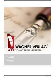 Mosaik von mila - Wagner Verlag Autoren Texte