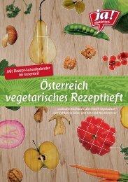 Österreich vegetarisches Rezeptheft - Ja! Natürlich