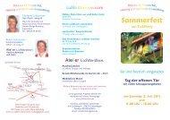 18.00 Uhr Sommerfest am Goldberg - Lichterstein.de