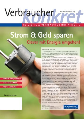 Strom & Geld sparen. Clever mit Energie - Nachhaltig-einkaufen.de