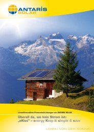 "Überall da, wo kein Strom ist: ""eKiss"" – energy ... - ANTARIS SOLAR"