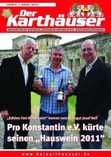 """""""Edition Fort Konstantin"""" kommt vom Weingut Josef ... - Der Karthäuser"""