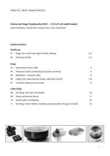 HGKZ ICS_ NCGS Modul 8 NCGS 5 Stimme der Dinge ...