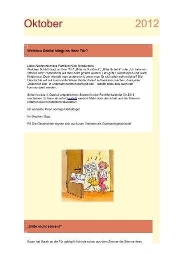 Beispiel Familien-Klick-Newsletter - Rex-Buch