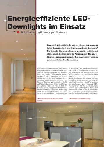 Energieeffiziente LED- Downlights im Einsatz - elforum