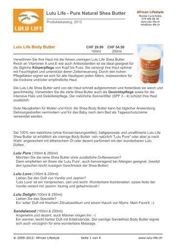 Lulu Life - Pure Natural Shea Butter