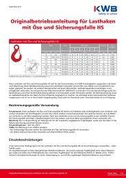Lasthaken mit Öse und Sicherungsfalle HS downloaden, bitte - KWB