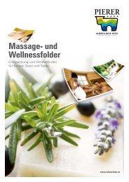 Massage- und Wellnessfolder - Almwellness Hotel Pierer