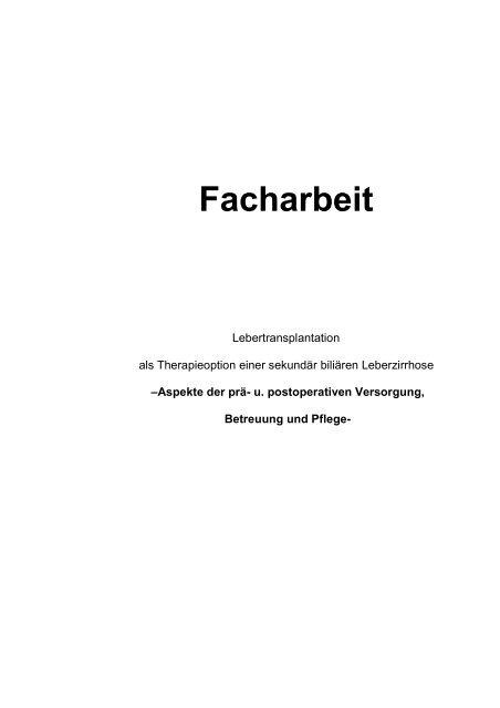 Facharbeit Organtransplantation