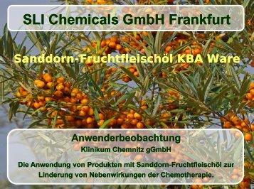 Sanddorn, Broschüre Anwenderbeobachtung - SLI Chemicals GmbH