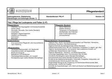 pflegestandard uke - Pflegestandards Beispiele