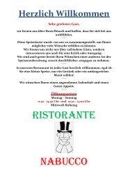 Italienisches Restaurant - Nabucco FFB