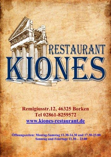 Warme Vorspeisen - Restaurant Kiones