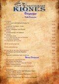 Warme Vorspeisen - Restaurant Kiones - Seite 2