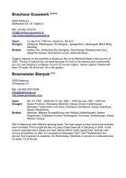 Salzburg Pub Guide - BEER BUZZ tours