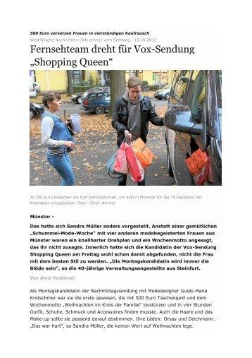 Fernsehteam dreht für Vox-Sendung -Shopping Queen-in_ ... - kokoon