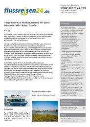 4 Tage Rhein-Main-Flusskreuzfahrt mit TUI Queen ... - Flussreisen 24