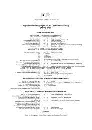 Allgemeine Bedingungen für die Unfallversicherung ... - Kontrakta