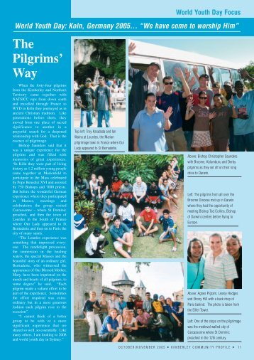 World Youth Day: Koln, Germany 2005... - Catholic Diocese of Broome